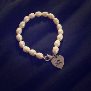"Pearl Bracelet - ""I Am Loved"" Charm"